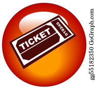Admission-Ticket - Red And White Admission Ticket Web Icon Or Button