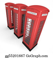 London-Pay-Phone - Three Phone Booths