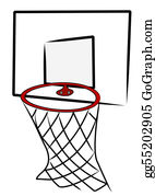 Basketball-Hoop - Basketball Net And Back Board - Illustration
