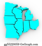 Minnesota - Great Lakes Region Of States - 3d Map