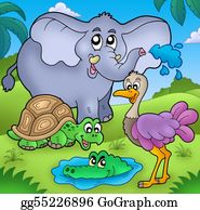 Croc - Group Of Various Tropical Animals
