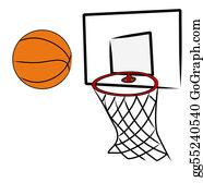 Basketball-Hoop - Basketball Being Shot Into Hoop Of Basketball Net