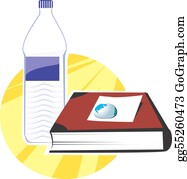 Water-Bottle - Book And Water