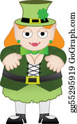 Happy-Woman-Leprechaun - Female Leprechaun Smiling