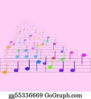 Sheet-Music - Colorful Notes Sheet Music