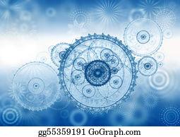 Power-Transmission-Line - Business Metaphor, Ancient Mechanism, Clockwork