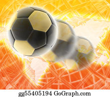 Football-Abstract - World Cup Football Soccer