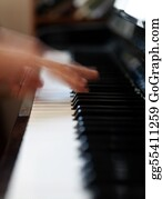 Music-Notes-On-Piano-Keyboard - Pianist
