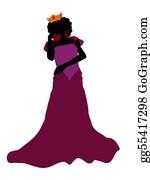 Queen - Evil Queen Silhouette Illustration