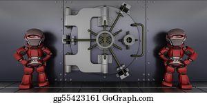 Bank-Vault - Robots Guarding A Bank Vault