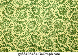 Paisley-Art - Green Paisley Pattern