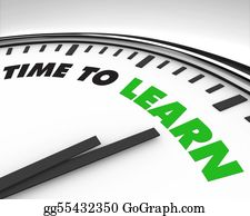 Inspirational - Time To Learn - Clock