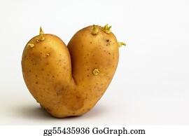 Flaming-Heart - Potato In Shape Of Flaming Heart