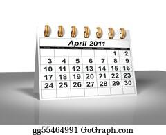 Weekday - Desktop Calendar. April, 2011.