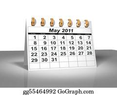 Weekday - Desktop Calendar. May, 2011.