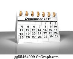 Weekday - Desktop Calendar. December, 2011.