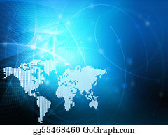 Map-Of-India - World Map Technology Style - Perfect Background With Space For Text Or Image