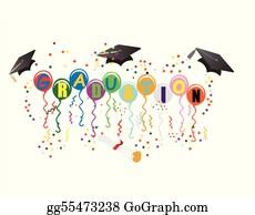 Graduation - Graduation Ballons For Celebration Illustration