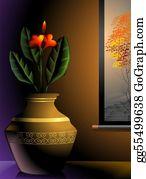 Flower-Pot - Painting