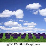 Solar-Panel - Solar Energy Panels On A Green Field