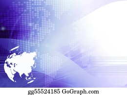Map-Of-India - Asia Map Technology-Style Artwork