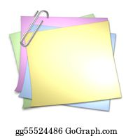 Memo-Pad - Blank Memo With Paper Clip