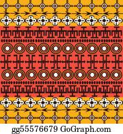 Entwined - Ethnic African Symbols Background