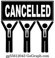 Void - Group Of Men Holding Cancelled Sign