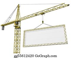 Crane - Crane Lifting Blank Sign
