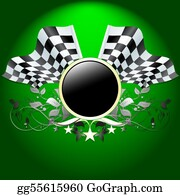 Race-Car - Ornate Flag