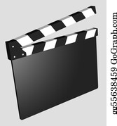 Movie-Production - Film - Clapboard Empty Isolated