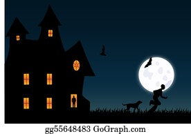 Halloween-Dog - Scary Illustration