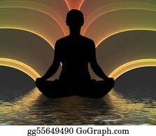 Buddhist - Meditating Silhouette