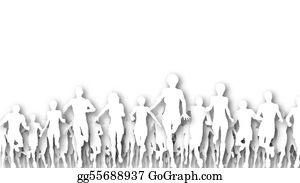Group-Of-People - Running Cutouts