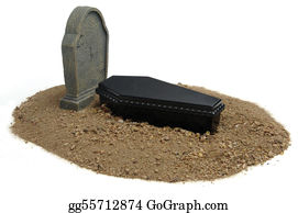 Headstone - Grave & Tombstone On White