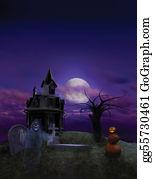 Headstone - Halloween Flier Background