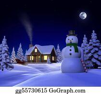 Cabin - Christmas Snow Cabin