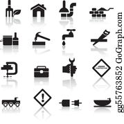 Plumbing - Construction And Diy Icon Set