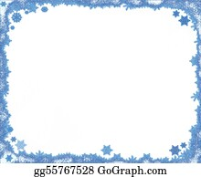 Snowflake - Christmas Snowflake Frame With Copy Space