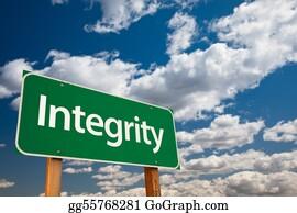 Honesty - Integrity Green Road Sign