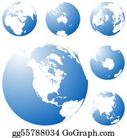 Six-Spheres-Balls-Illustration-With - Blue Planet
