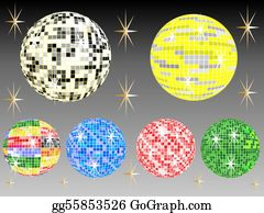 Six-Spheres-Balls-Illustration-With - Six Mirror Balls
