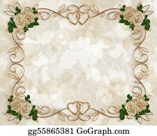 Classic-Victorian-Pattern - Wedding Invitation Antique Roses