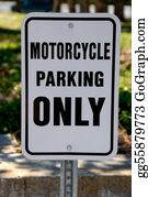 Motorcycle - Motorcycle Only Parking Sign