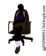 Rock-Climbing-Woman - Female Hiker Sitting In An Office Chair Silhouette