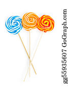 Lollipop - Colourful Lollipop Isolated On The White Background