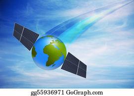 Solar-Panel - World Globe With Solar Panels