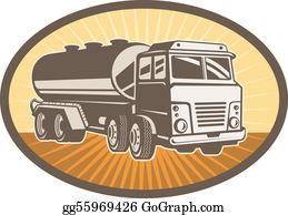 Cement-Truck - Cement Truck Set Inside An Ellipse With Sunburst In Background