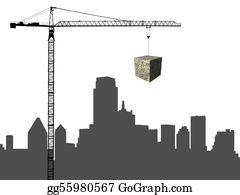 Crane - Dallas Skyline With Crane And Dollar Cube