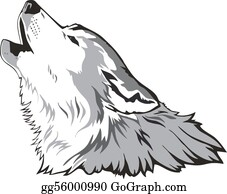 Halloween-Dog - Wolf Head Vector
